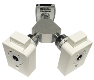Y-BLOCK COUPLER, 1/8 IN FNPT, VACUUM, WHITE by Ohio Medical, LLC