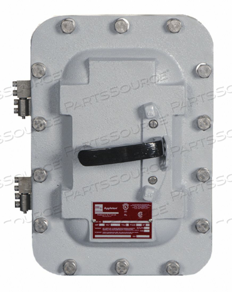 ENCLOSED CIRCUIT BREAKER 3P 10A 600VAC by Appleton Electric