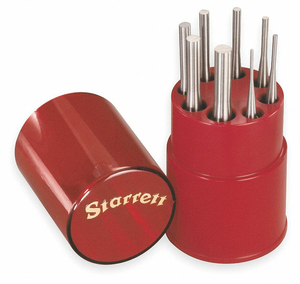 DRIVE PIN PUNCH SET 8 PIECES STEEL by Starrett