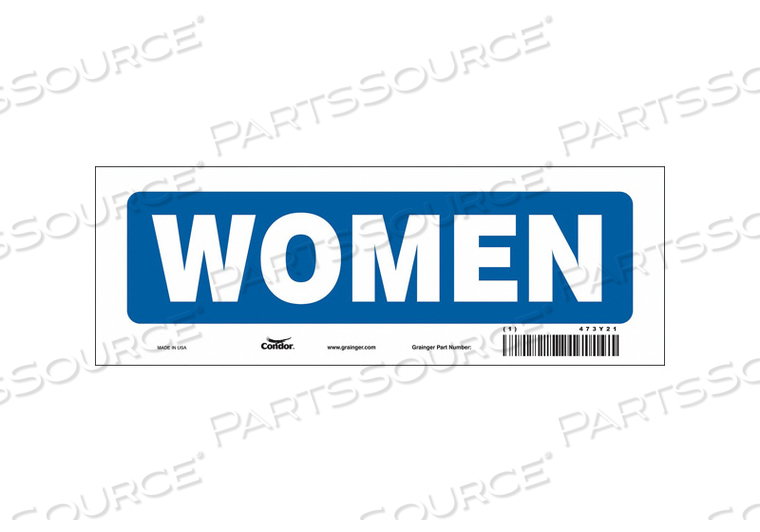 RESTROOM SIGN 10 W 3-1/2 H 0.004 THICK by Condor