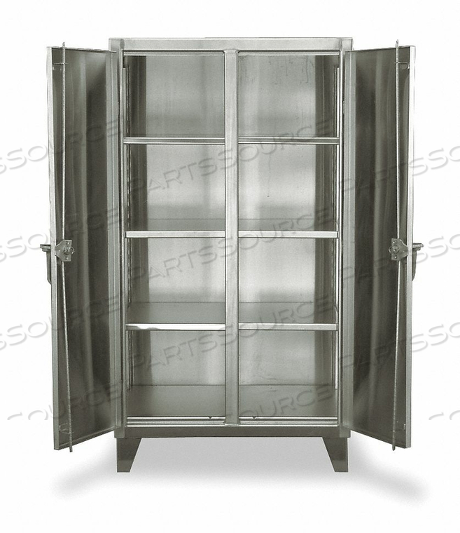 SHELVING CABINET 66 H 48 W SILVER by Strong Hold