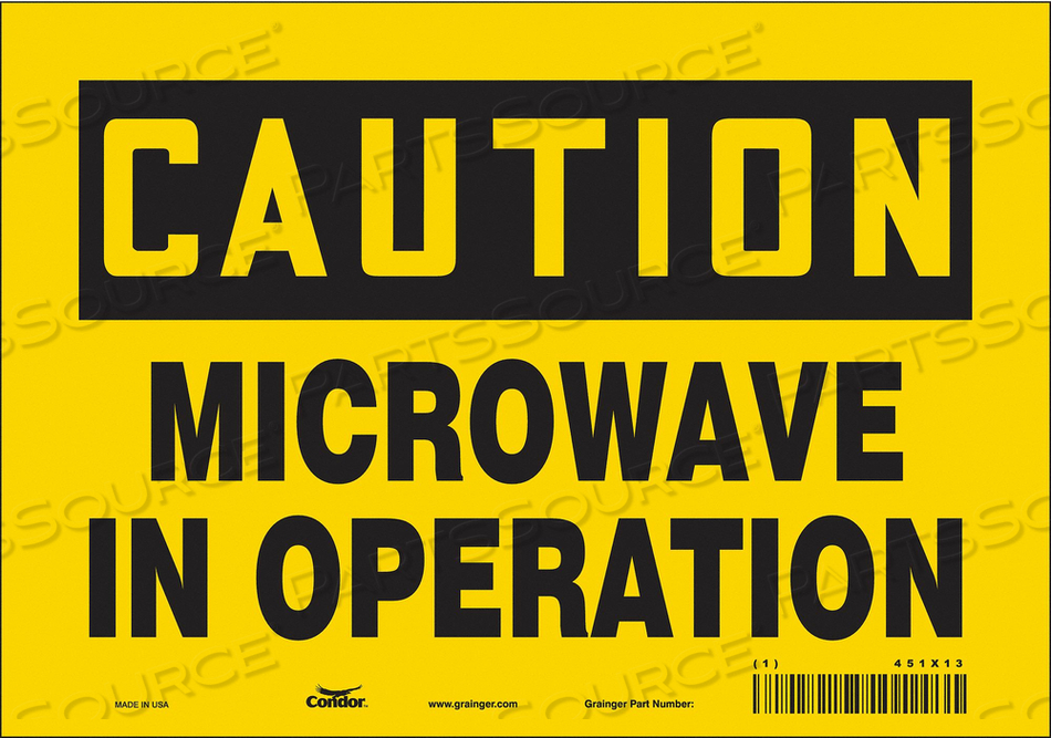 SIGN RADIOFREQUENCY/MICROWAVE 7 H by Condor