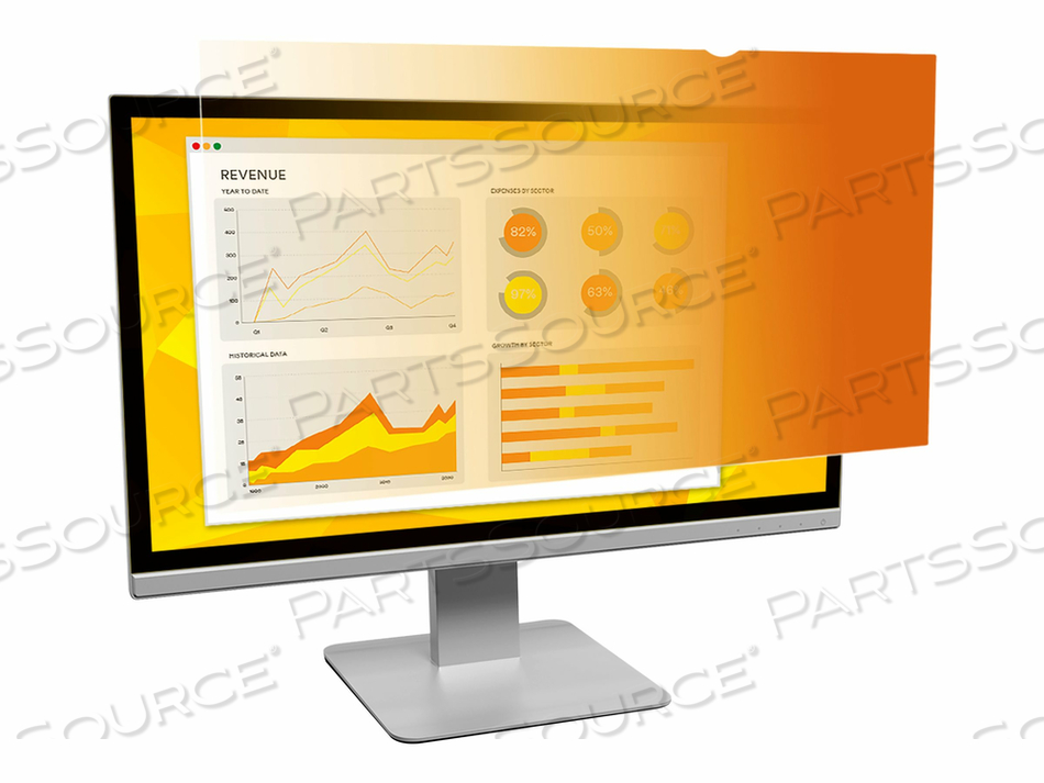 "3M GOLD PRIVACY FILTER FOR 19"" STANDARD MONITOR - DISPLAY PRIVACY FILTER - 19"" - GOLD by 3M Consumer"