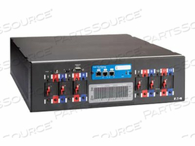 """POWERWARE RACK POWER MODULE RPM-3U - POWER DISTRIBUTION UNIT ( RACK-MOUNTABLE ) - AC 208 V - 3-PHASE - RS-232 - INPUT: NEMA L21-30 - OUTPUT CONNECTORS: 6 ( NEMA L6-30 ) - 3U - 19"""""""