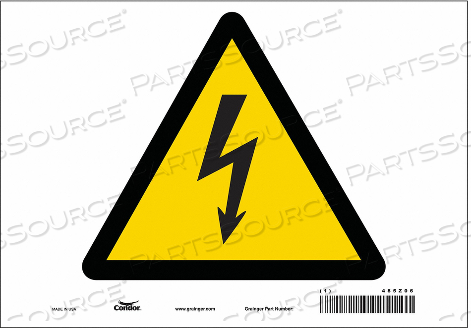 ELECTRICAL SIGN 10 W 7 H 0.004 THICK by Condor