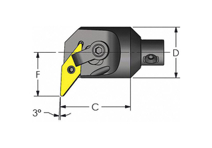 MODULAR HEAD 2.000 X 2.030 SIZE 2.5 by Ultra-Dex USA
