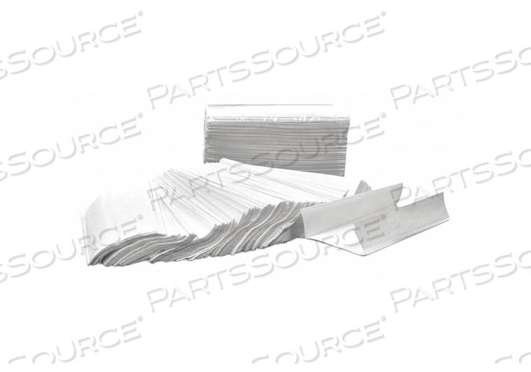 PAPER TOWEL SHEETS C-FOLD WHT 1 PLY PK12 by Tough Guy