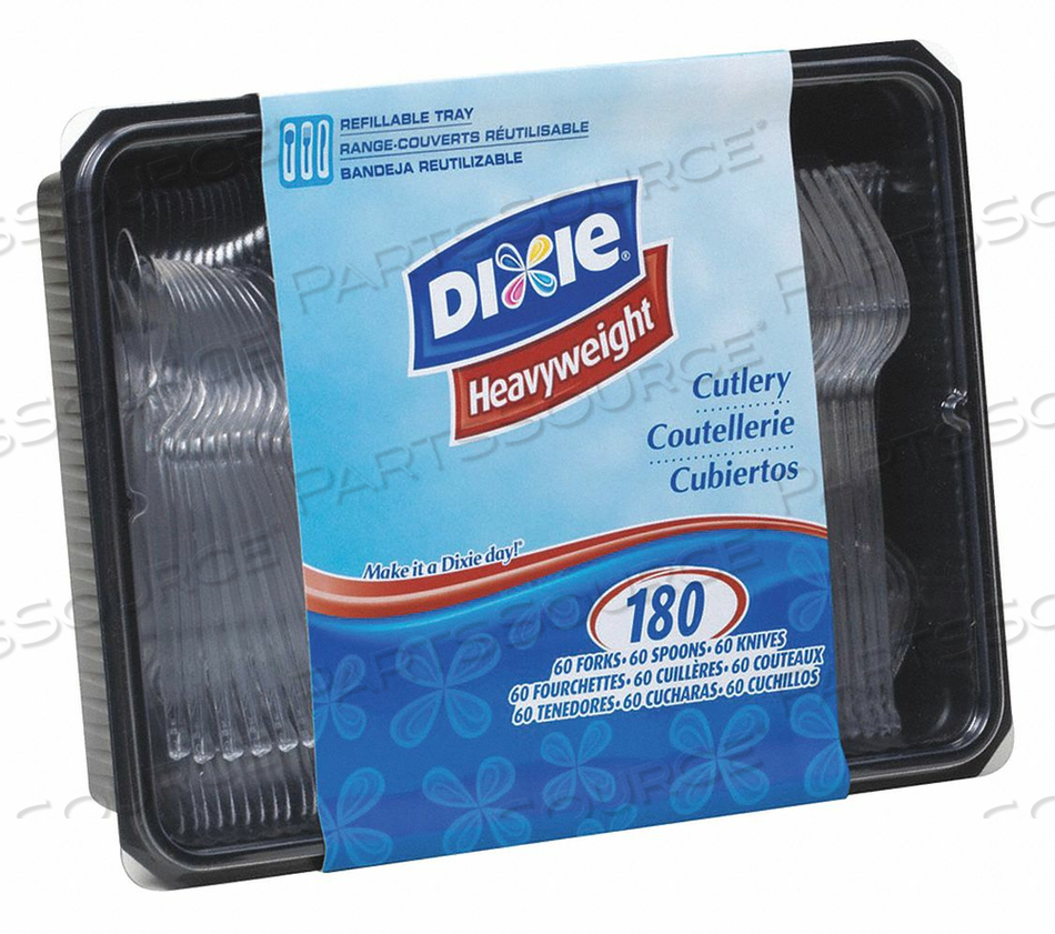 DISPOSABLE CUTLERY SET UNWRAPPED PK10 by Dixie