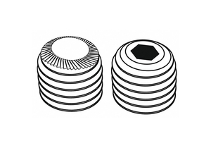 SCKT SET SCRW KNURL CUP 1/4-20X1/4 PK100 by Fabory