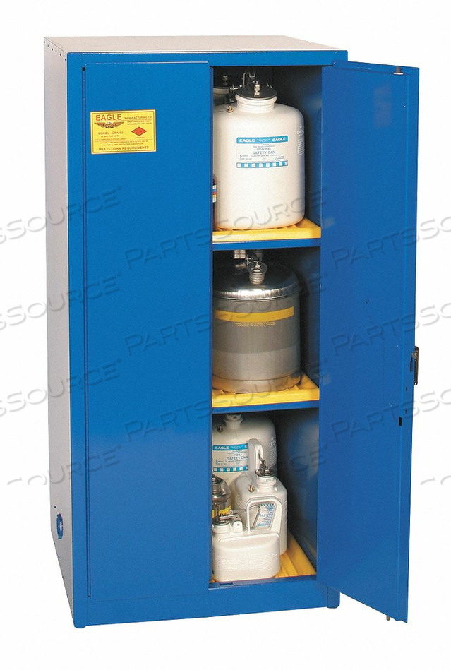 CORROSIVE SAFETY CABINET 31-1/4 IN D by Eagle