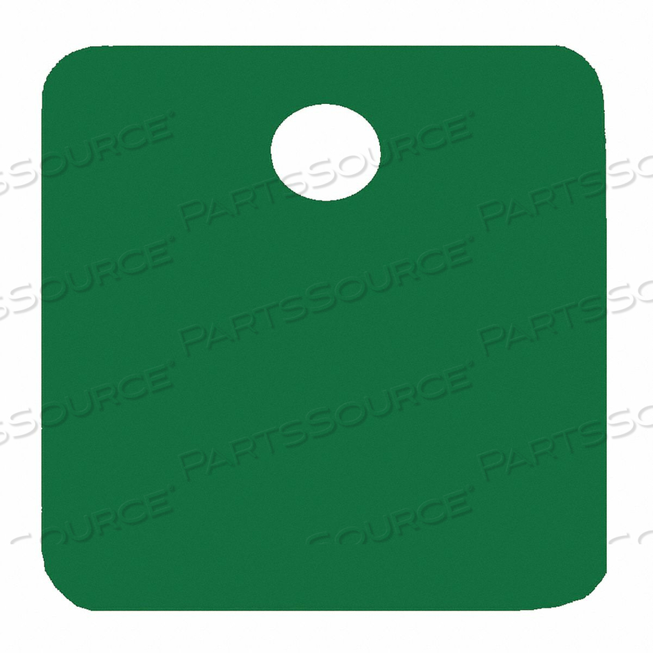 BLANK TAG SQUARE GREEN PK5 by C.H. Hanson