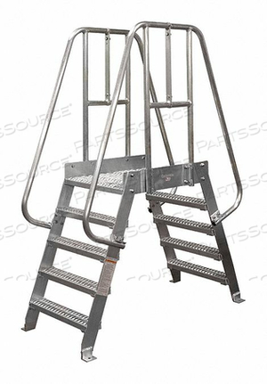 CROSSOVER LADDER 4 STEP ALUMINUM 74IN. H by Cotterman