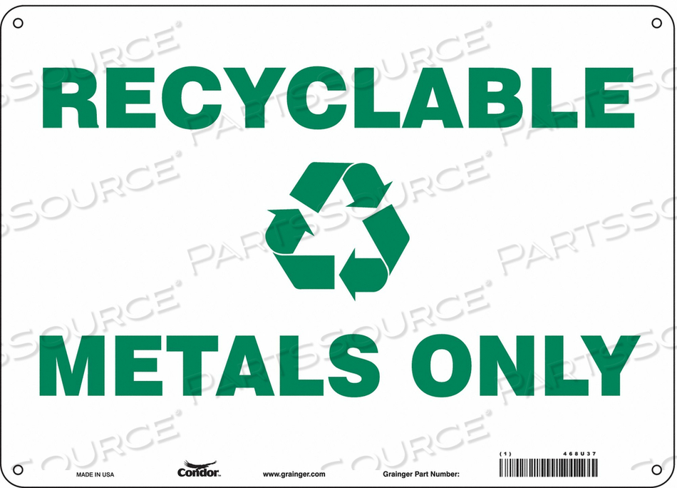 SAFETY SIGN 14 WX10 H 0.055 THICKNESS by Condor