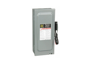 SAFETY SWITCH 240VAC 3PST 30 AMPS AC by Square D