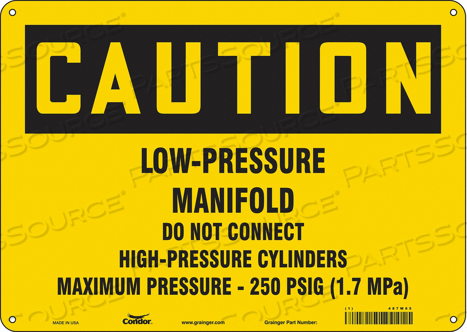 CYLINDER SIGN 14 W 10 H 0.055 THICKNESS by Condor