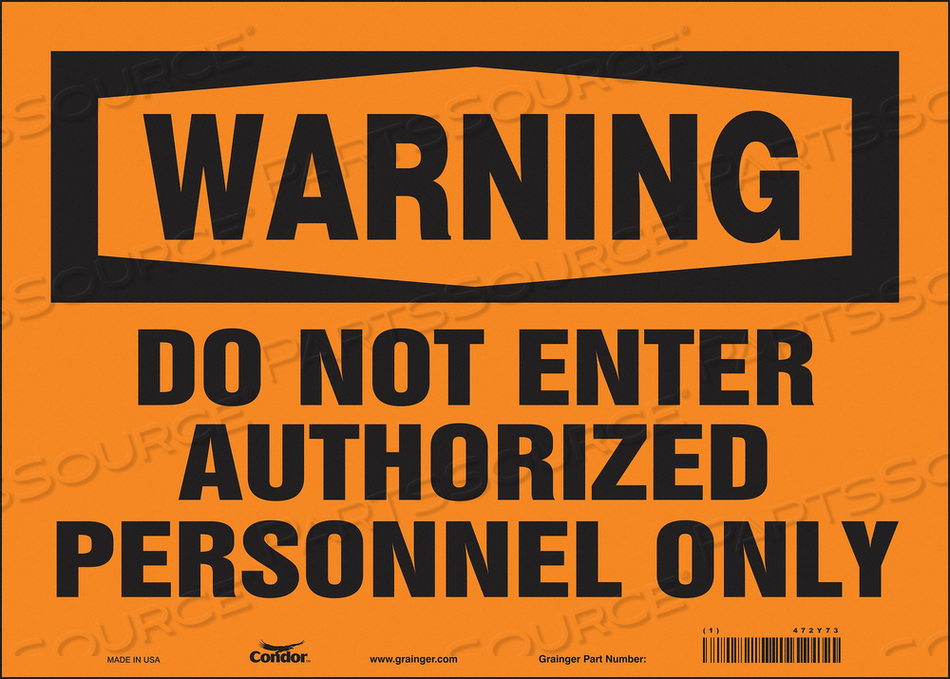 SAFETY SIGN DO NOT ENTER 10 X14 by Condor
