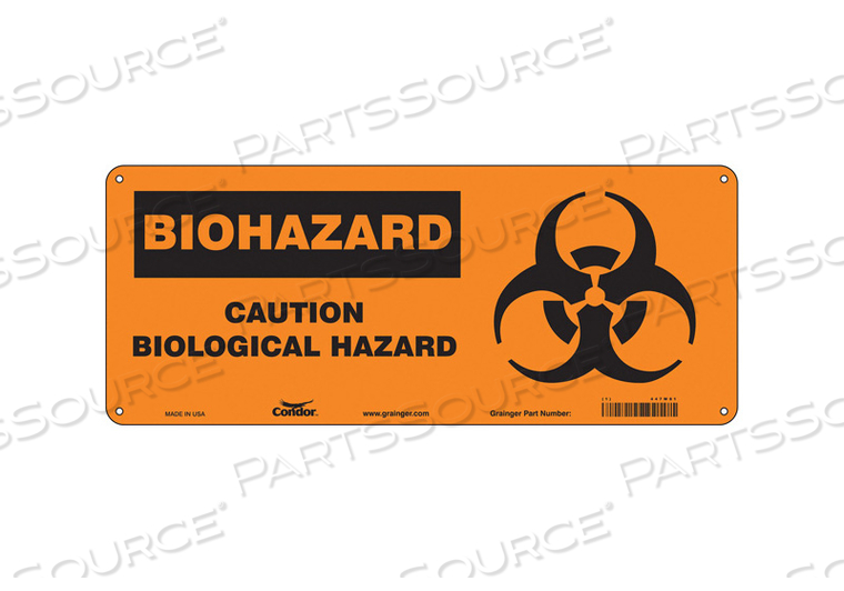 BIOHAZARD SIGN 17 W 7 H 0.055 THICK by Condor