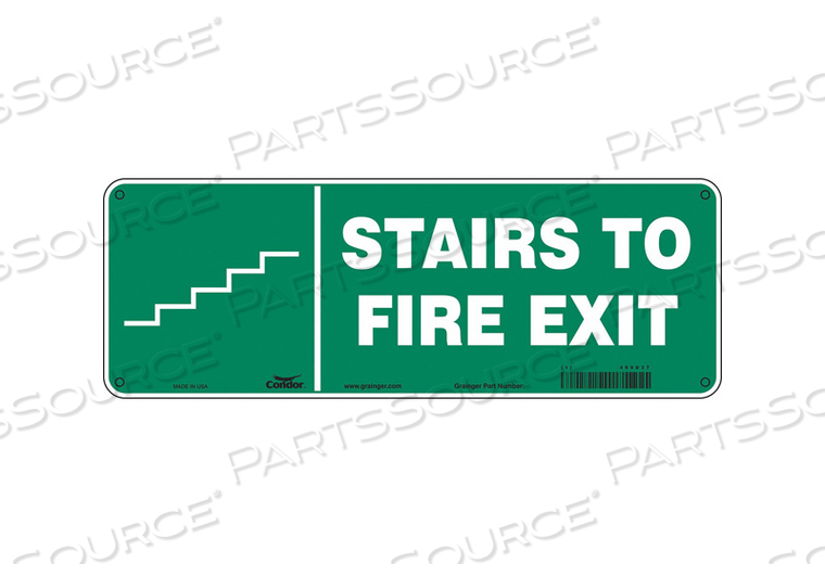 SAFETY SIGN 14 W 5 H 0.032 THICKNESS by Condor