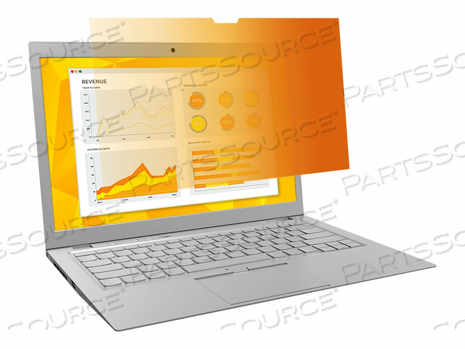 """3M GOLD PRIVACY FILTER FOR 17"""" WIDESCREEN LAPTOP - NOTEBOOK PRIVACY FILTER - 17"""" WIDE - GOLD"""