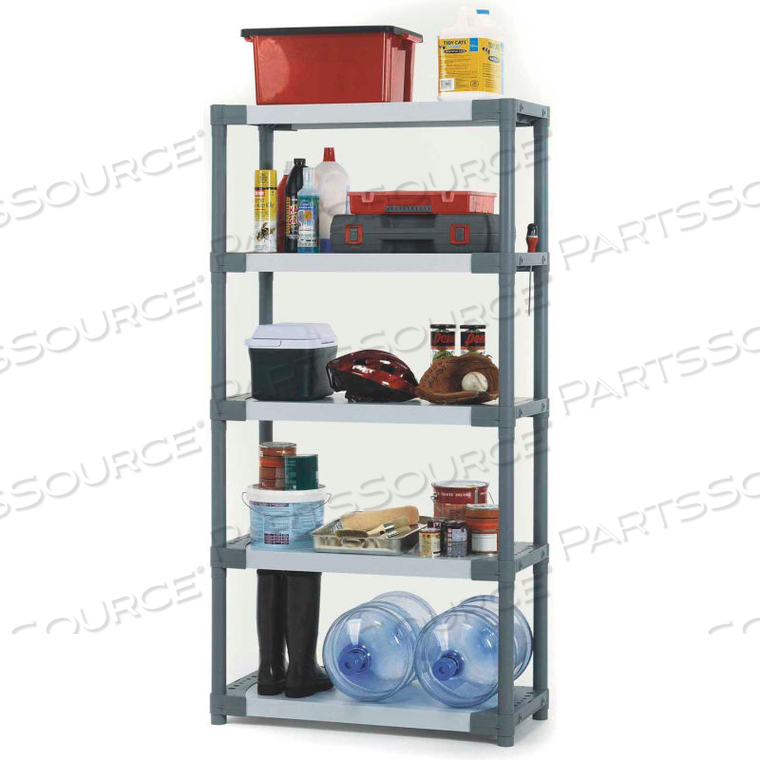 """PLASTIC SOLID SHELVING 36""""W X 16""""D X 70""""H CAPACITY 200 LBS by Grosfillex"""