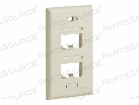 PANDUIT MINI-COM ULTIMATE ID CLASSIC SERIES FACEPLATE - FACEPLATE - ELECTRIC IVORY - 1-GANG - 4 PORTS by Panduit