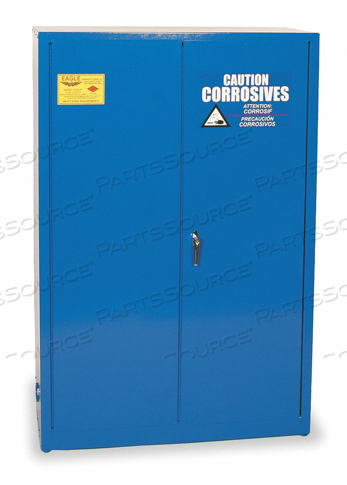 CORROSIVE SAFETY CABINET BLUE 45 GAL. by Eagle
