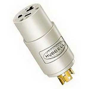 125V NYLON CONVENIENCE MAINS CONVERTER PLUG ADAPTER by Hubbell Power Systems