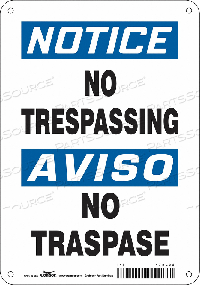 J7002 SAFETY SIGN 7 W 10 H 0.060 THICKNESS by Condor
