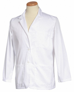 CONSULTATION JACKET L WHITE 30 IN L by Fashion Seal