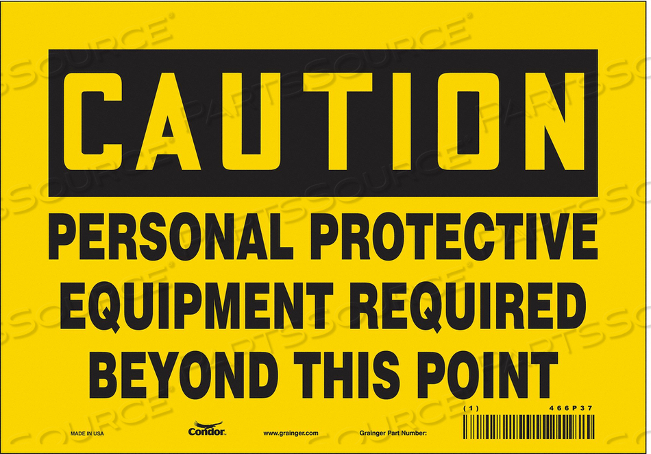 J6965 SAFETY SIGN 14 H 10 W VINYL by Condor