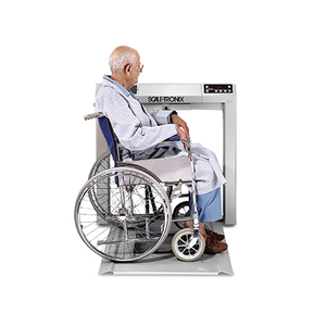 STOW-A-WEIGH WHEELCHAIR SCALE, 400 KG WITH KG ONLY (K), DATA PORT AND BATTERY POWER by Scale-Tronix