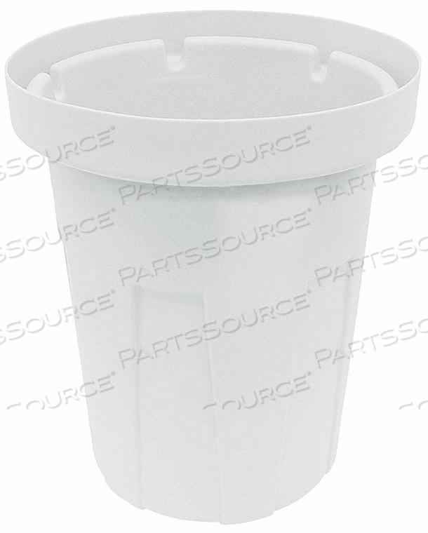 TRASH CAN 20 GAL. WHITE by Tough Guy