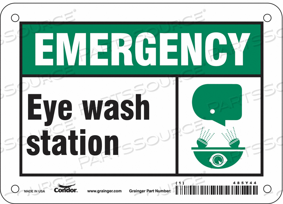 FIRST AID SIGN 7 W 5 H 0.055 THICKNESS by Condor