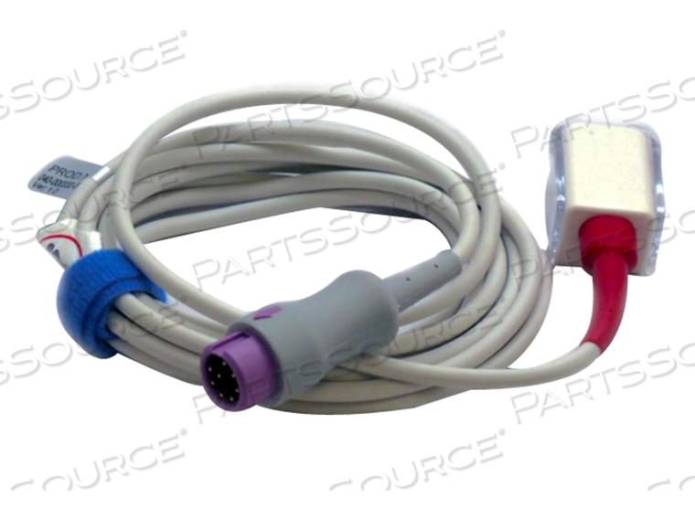2.5M 8-PIN LNCS SPO2 EXTENSION CABLE, PURPLE CONNECTOR
