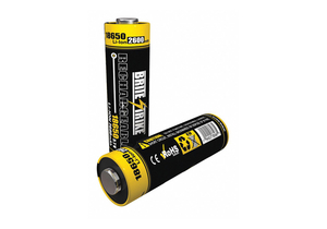 BATTERY RECHARGEABLE, 18650, LITHIUM ION, 3.7V, 2400 MAH by Brite-Strike