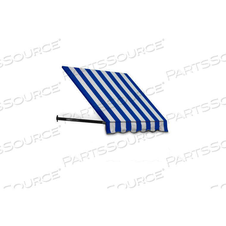 WINDOW/ENTRY AWNING 3-3/8'W X 3-11/16'H X 3'D BRIGHT BLUE/WHITE by Awntech