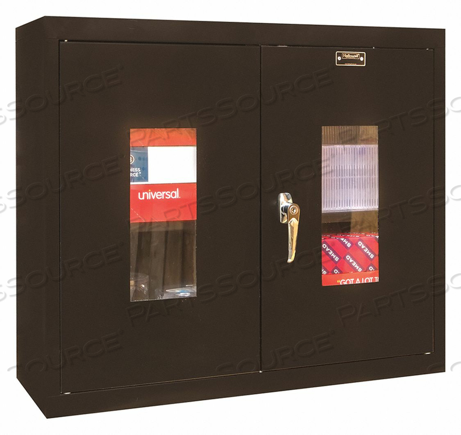 G6782 WALL CABINET 26 H 30 W BLACK by Hallowell