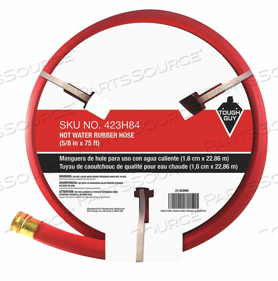 WATER HOSE 5/8 I.D.75 FT. RUBBER by Tough Guy