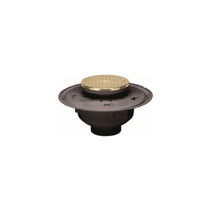 """6"""" PVC ADJUSTABLE COMMERCIAL CLEANOUT WITH 6"""" BRASS COVER & ROUND RING by Oatey"""