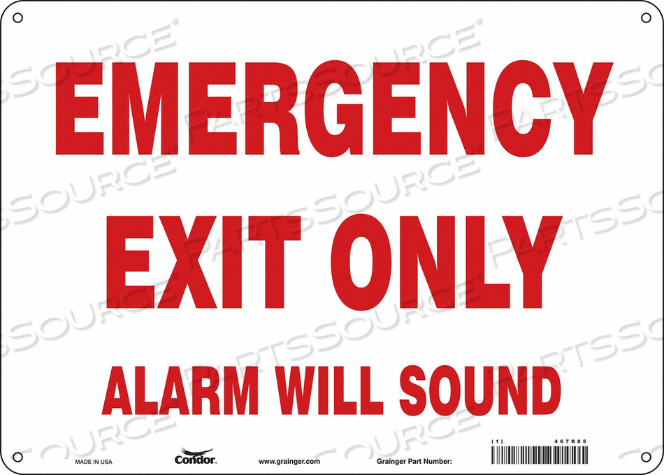 SAFETY SIGN 10 X14 FIBERGLASS by Condor