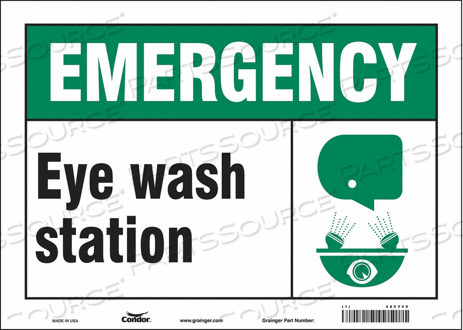 FIRST AID SIGN 14 W 10 H 0.004 THICK by Condor
