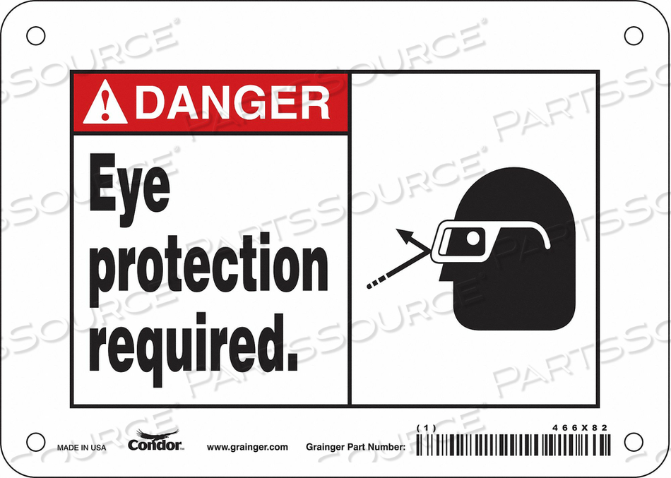 SAFETY SIGN 7 W 5 H 0.055 THICKNESS by Condor