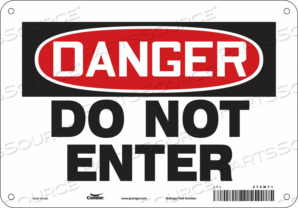 J6922 SAFETY SIGN 10 W 7 H 0.032 THICKNESS by Condor