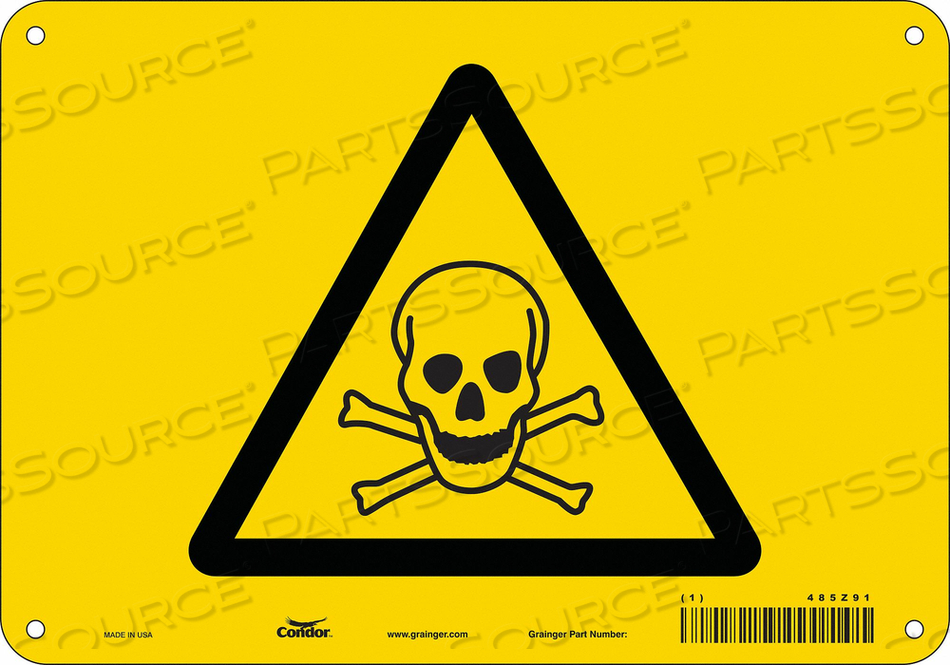 CHEMICAL SIGN 10 W 7 H 0.055 THICKNESS by Condor