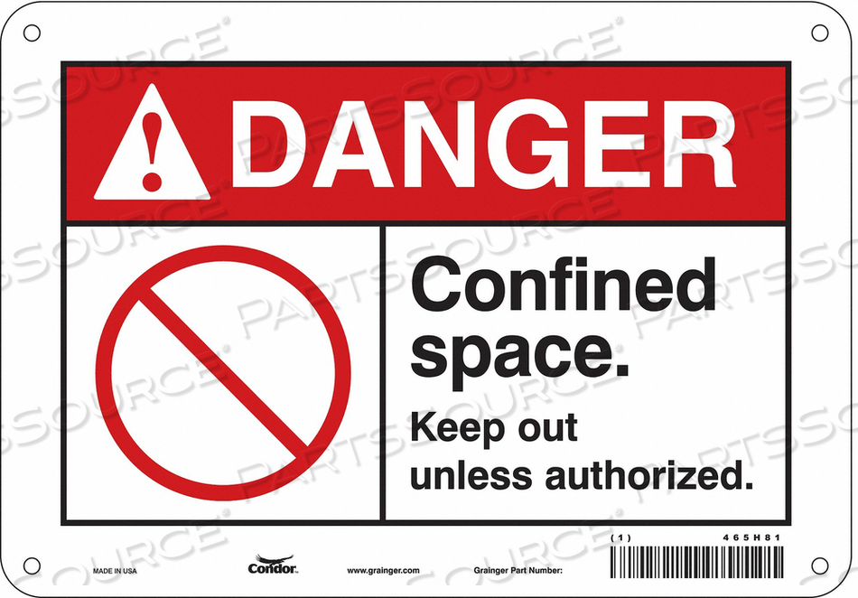 SAFETY SIGN 7 H 10 W FIBERGLASS by Condor