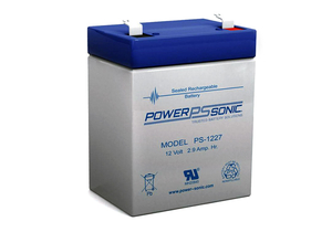 BATTERY, SEALED LEAD ACID, 12V, 2.9 AH, FASTON (F1) by Power Sonic