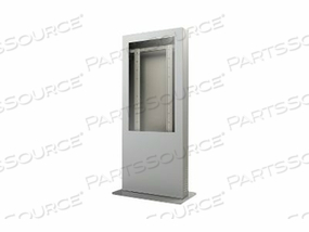 "PEERLESS-AV PORTRAIT BACK-TO-BACK KIOSK ENCLOSURE KIP546B-3 - STAND FOR 2 LCD / PLASMA PANELS - LOCKABLE - GLOSS BLACK - SCREEN SIZE: 46"" - FLOOR-STANDING"