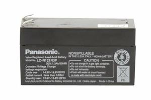 BATTERY, SEALED LEAD ACID, 12V, 1.3 AH, FASTON (F1) by Panasonic / Matsushita Electric Industrial Co, Ltd