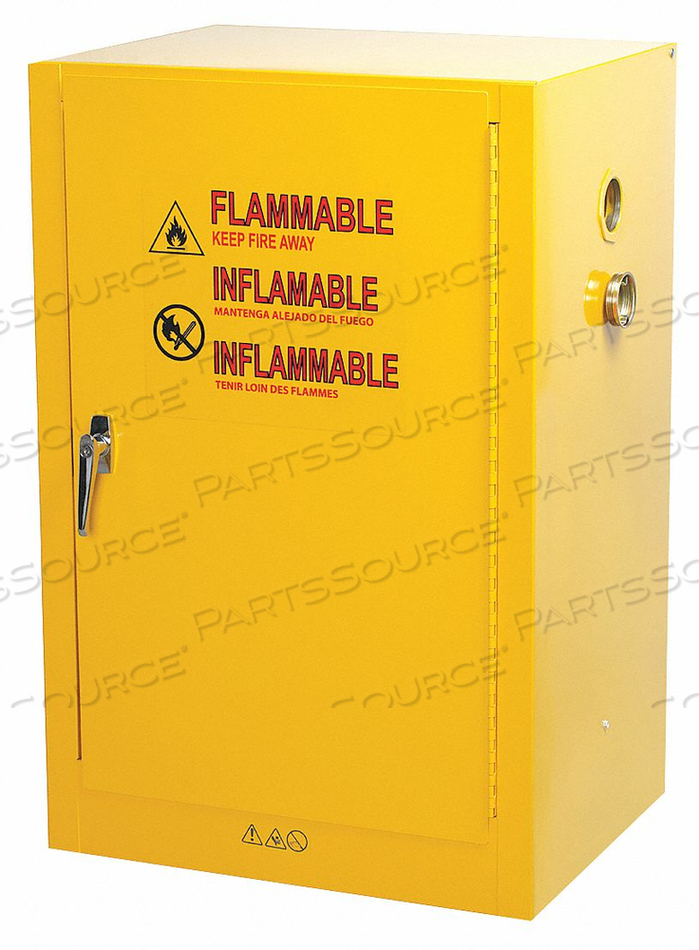 FLAMMABLE SAFETY CABINET 12 GAL. YELLOW by Condor