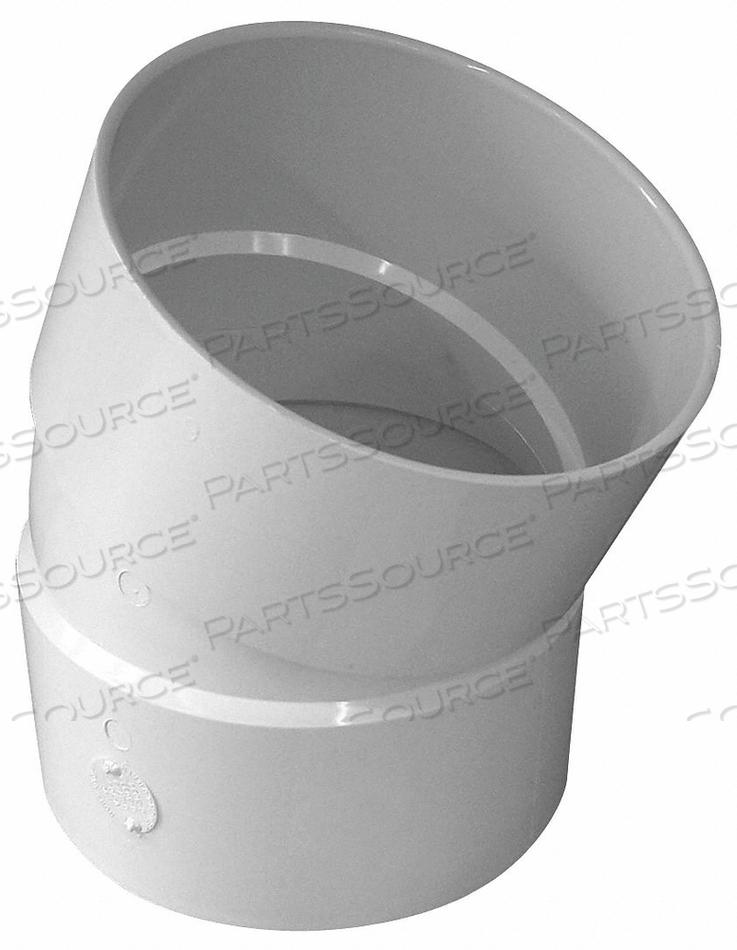 ELBOW 22-1/2 DEGREES PVC 6IN. HUB by Genova